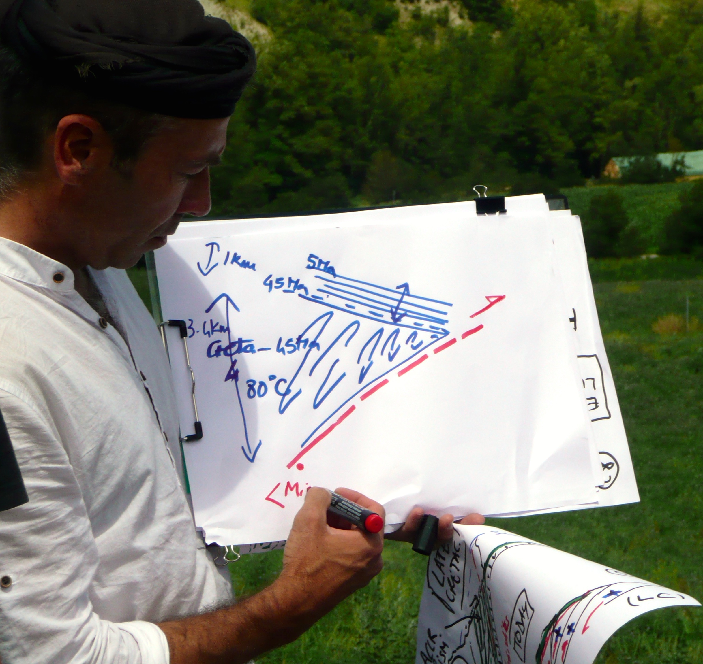 PI Philippe Agard explains local geology during the Alpine field trip