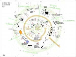 Map of the ZIP exhibition
